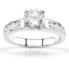Classic channel set gold platinum palladium engagement ring