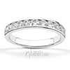 Classic channel set ladies diamond wedding band