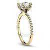 Yellow gold 14k 18k diamond engagement ring