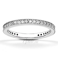 Pave set ladies diamond wedding band