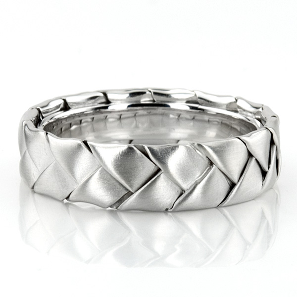 Hc100207 Previous Hand Made Woven Wedding Band