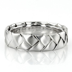 Hc100207 bestseller shiny hand braided wedding ring