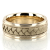 Hc100105 classic milgrain hand braided wedding band