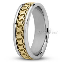 Hc100227 modern handcrafted wedding ring
