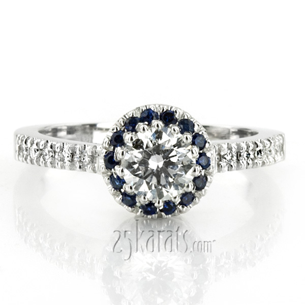 Sapphire Engagement Rings Certified Diamonds Design Your Own