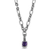 Sterling silver amethyst coctail pendant