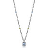 Peridot blue topaz and amethyst necklace pendant