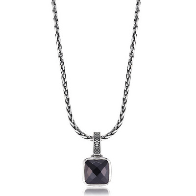 Sara blaine jewelry collection designer silver jewelry sterling silver black onyx necklace pendant aloadofball Choice Image