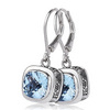 Blue topaz lever back dangle earrings