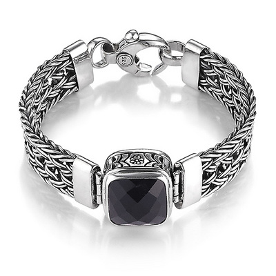 emils black onyx von bracelets faceted bracelet kopie product watches lavastone