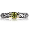 Sterling silver 18k yellow gold peridot ring