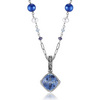 Iolite blue topaz freshwater pearl necklace pendant