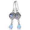 Iolite topaz blue topaz earrings