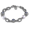 Iolite topaz and freshwater pearl bracelet