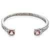Sterling silver morganite bangle bracelet