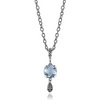 Sterling silver blue topaz necklace pendant