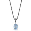 Blue topaz designer silver pendant and chain