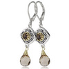 Fashion sterling silver dangle leverback sara blain designer earrings