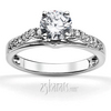 Miro pave set cathedral diamond engagement ring
