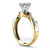 Yellow gold micro set engagement ring