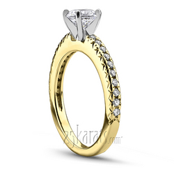 Yellow gold novo inspired engagement ring