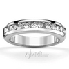 Channel set ladies wedding band