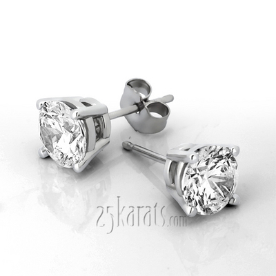 64131dc13 Perfect Pair Diamond Stud Earrings 4 Prong Basket Setting H-SI2 diamonds  (0.25 ct. tw.)