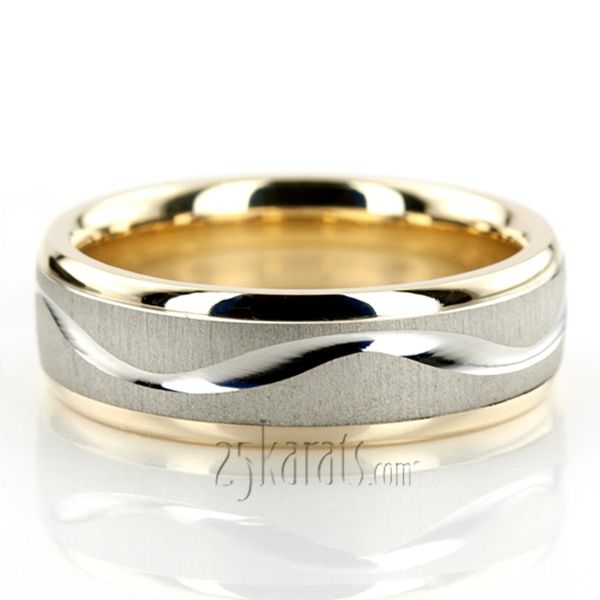 tt225 - Two Tone Wedding Rings
