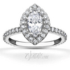 Marquise center pave engagement ring