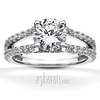 Enr9112split shank micro pave diamond engagement ring