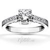 Scroll diamond engagement ring