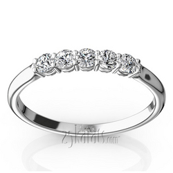 Open basket shared prong wedding anniversary band