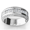 Round and baguette diamond wedding anniversary band