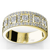 Yellow gold fancy anniversary band