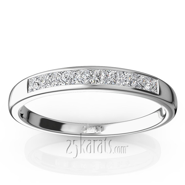 engraved princess cut band hand diamond anniversary carat bands