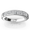 7 stone classic princess channel set wedding anniversary bands