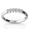 Rounded shank princes anniversary wedding band