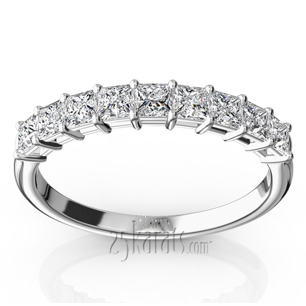 princess cut emerald anniversary band diamond product bands and wedding