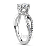 Infinity pave set trillis center engament ring