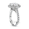 Platinum diamond halo engagement rings