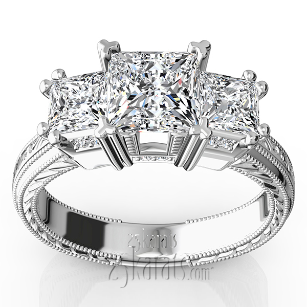 stone engagement and wedding pear gia diamond ring cut princess platinum rings