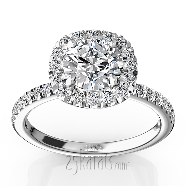 Diamond Accent Engagement Rings, Engagement Rings with Side Stones