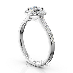 Micro pave halo for straight wedding bands