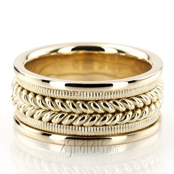 Hc100112 Previous Hand Made Woven Wedding Band