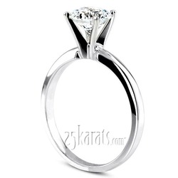 Pre set solitaire engagment ring