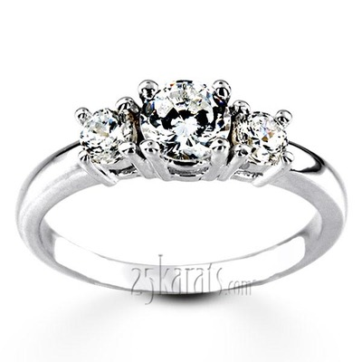 3e9f7d5b8ef Classic Basket Setting Three Stone 14k Gold Engagement Ring (1 2 ct. t.w.  GH SI)