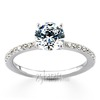 1 00ct diamond weight pre set center diamond micro pave engagment ring whole sale
