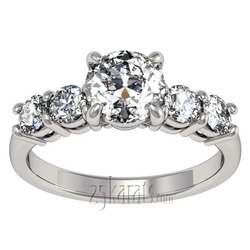 Timeless basket setting diamond engagement ring
