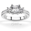 All princess cut set three stone engagement ring