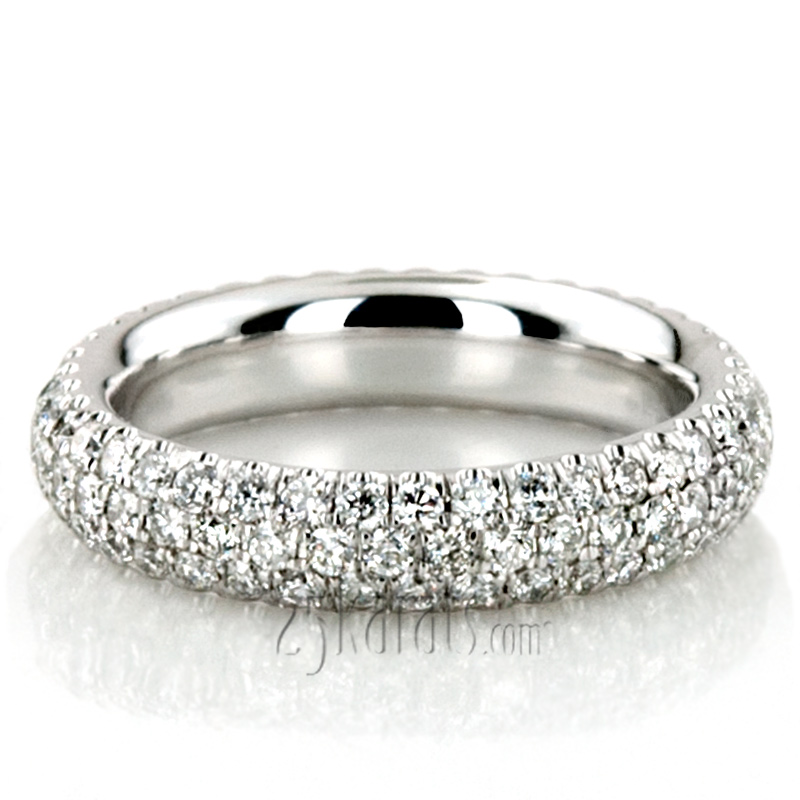silver band cz bands sterling pave jewelry ring micro